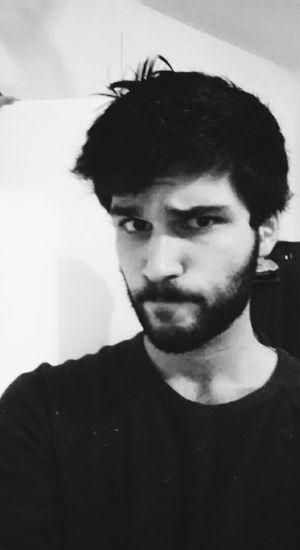 Selfie Derp Face Blackandwhite