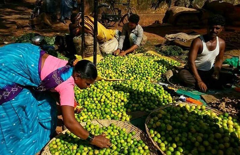 India Colours Market Lemon Yellow Vegatablemarket
