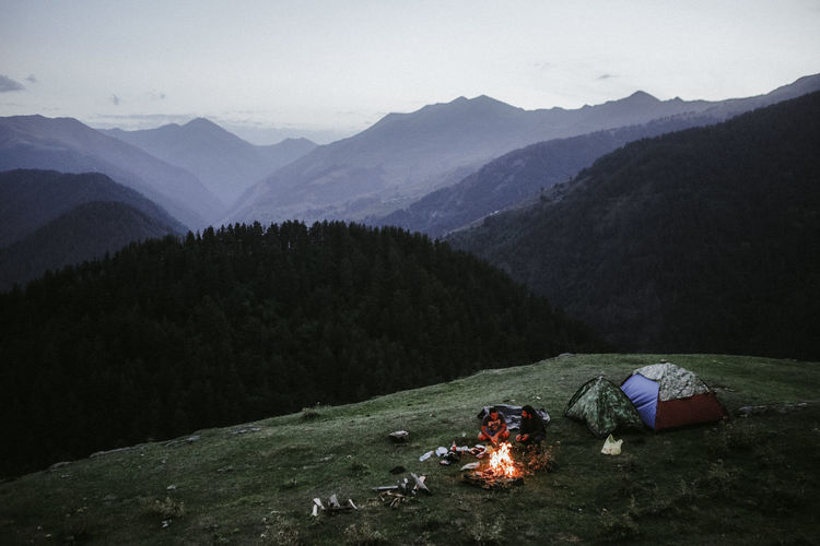 Adventure Beauty In Nature Camping Environment Hiking Idyllic Landscape Leisure Activity Mountain Mountain Peak Mountain Range Nature Non-urban Scene Outdoors Plant Scenics - Nature Sky Tent Tranquil Scene Tranquility Tree My Best Travel Photo Capture Tomorrow