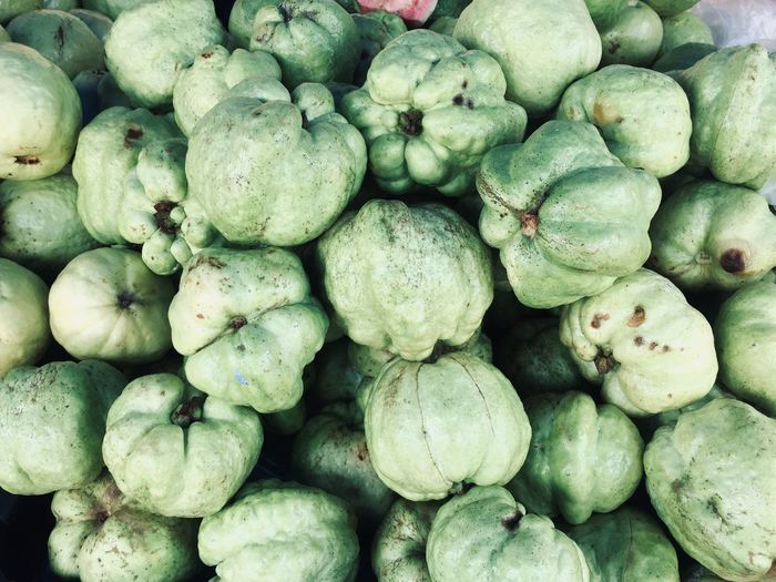 Full frame shot of guava for sale at market stall