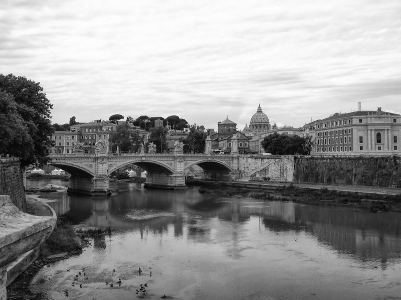 Arch Architecture Bridge - Man Made Structure Building Exterior Built Structure City Connection Day Nature No People Outdoors Petersdom Reflection River Rome Sky Tree Vatikan Water