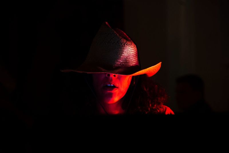 Nikon Nikonphotography WeekOnEyeEm Portrait Portrait Of A Woman Red Color Hat Night Nightphotography Women Portrait Of A Woman Still Life Lifestyles Lifestyle Eyemphotography Eyem Eyem Gallery Black Background Spooky Red Close-up Exploring Fun
