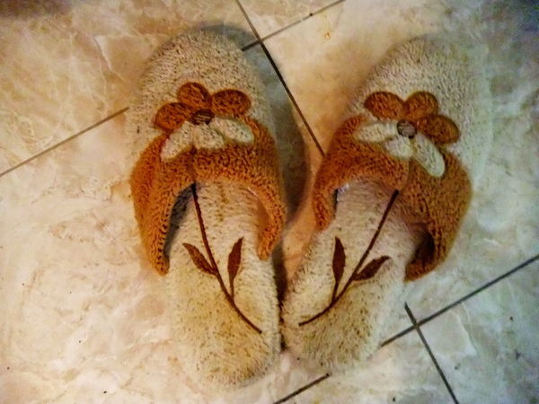 two colorful slippers on a floor Abstract Beautiful Brown Close-up Cloth Day Flooronfiya Fragility Full Frame Ground Mat Natural Pattern Nature Nature No People Object Paris SLICE Sliperrs Soft Softness Softness Is My Kingdom Style Textile Warmlight