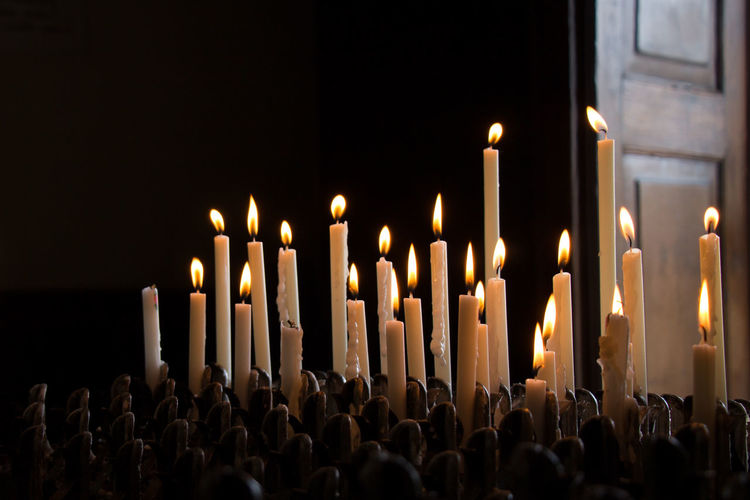 Candle in a church
