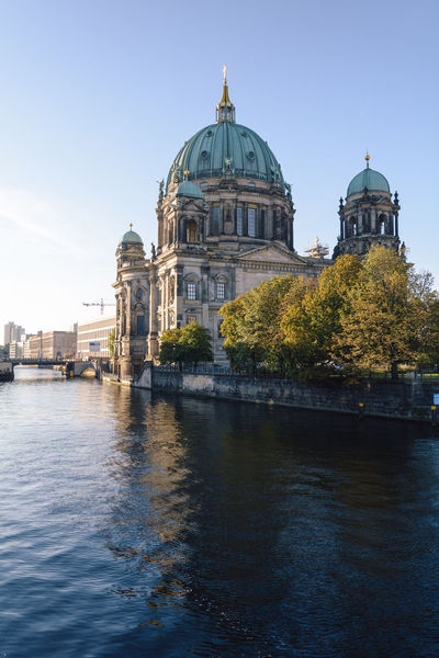 berlin cathedral at sunrise Architecture Berlin Berlin Cathedral Berliner Dom Daytime Germany International Landmark New Day Sightseeing Spree River Berlin Sunrise Travel Destinations Water