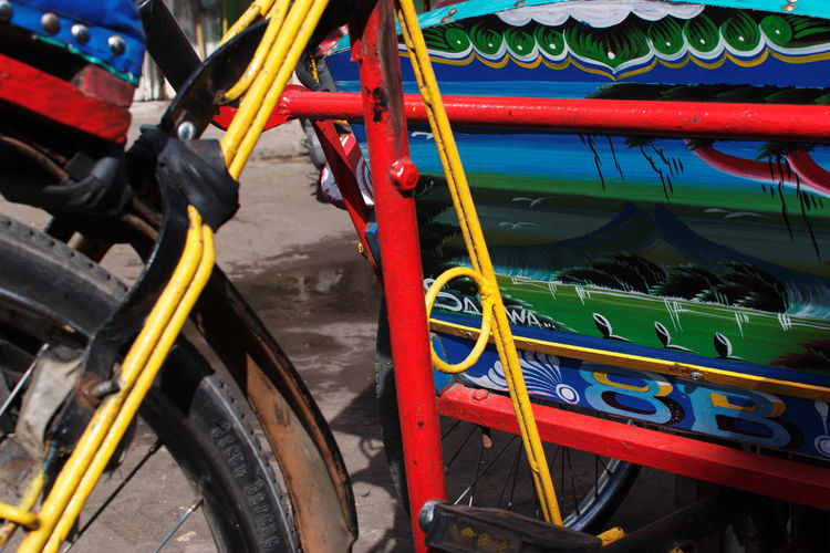 Scenes and details from Kanoman Market, Semarang. December 2017. Documentary Photography Farmers Market Traditional Market Day Details Details Of Pedicab Mode Of Transport No People Outdoors Pedicab Streetphotography Transportation
