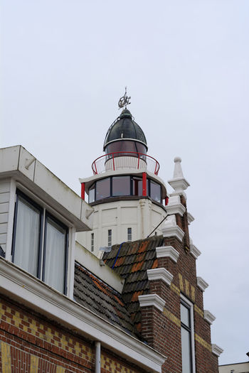 light house in Harlingen, Netherlands Architecture Brick Building Exterior Built Structure Clear Sky Clinker Day Dome History Lighthouse Low Angle View Netherlands Netherlands ❤ No People Outdoors Pension Place Of Worship Religion Sky Spirituality