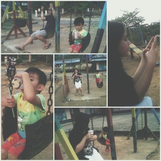 There's no more interesting than Makedonia playground haha Qualitytime Playingtime Ourstory