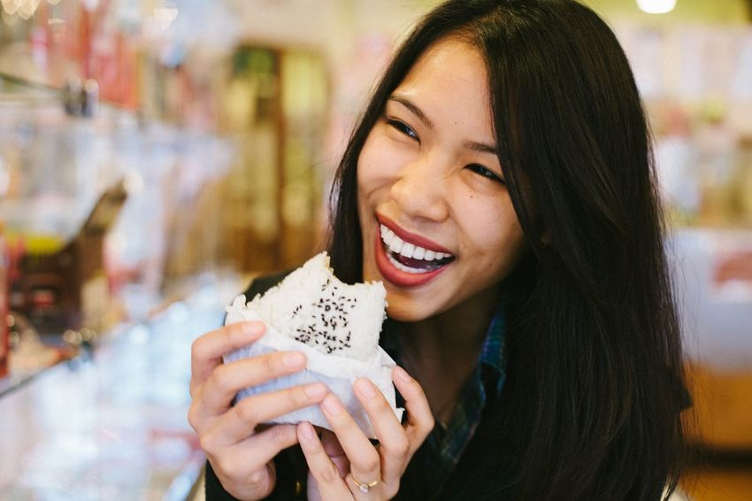 So hungry for this giant rice ball! Happy Moments Happiness Rice - Food Staple Cravings Cheap Food Foodie Ready To Eat Japanese Food Yummy Food Holding Austin, TX Asian Foods Food Lover Hungry Onigiri Rice Ball Smiling One Person Holding Food And Drink Real People Laughing Happiness Eating Leisure Activity Headshot Young Adult Cheerful Enjoyment Food