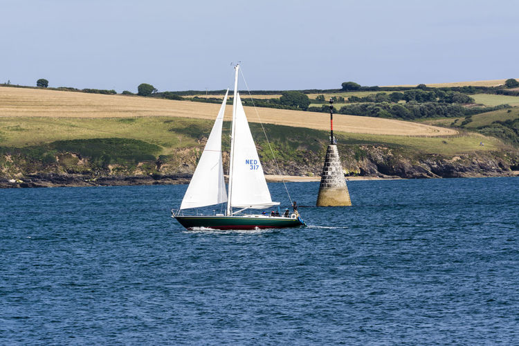 Beauty In Nature Blue Blue Wave Boat Calm Canvas Clear Sky Cornwall Day Falmouth Mode Of Transport Nautical Vessel Outdoors Regatta Sailboat Sailing Scenics Sea Tranquil Scene Tranquility Transportation Water Waterfront