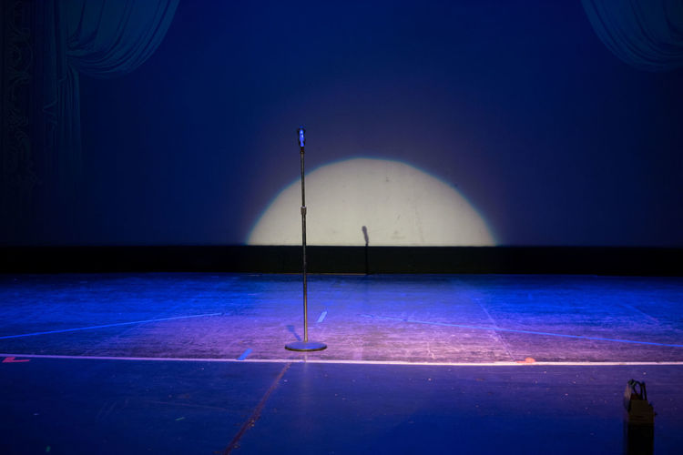 Mic Open Mic Sing Singing Stage Blur Club Comedy Empty Stage Microphone Performance Speaker Spot Light