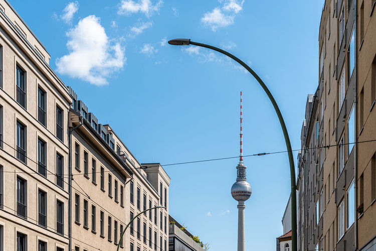 Cityscape of berlin with tv tower on background.