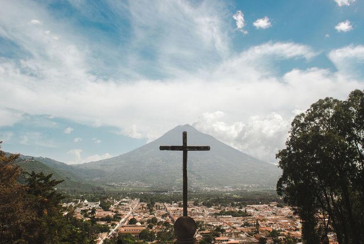 Cross erected