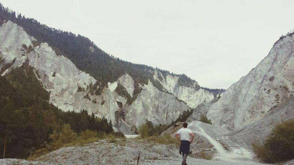 Switzerland Graubünden Swiss Mountains Mountain View Stones N Rocks Hiking Day Swiss Canyon