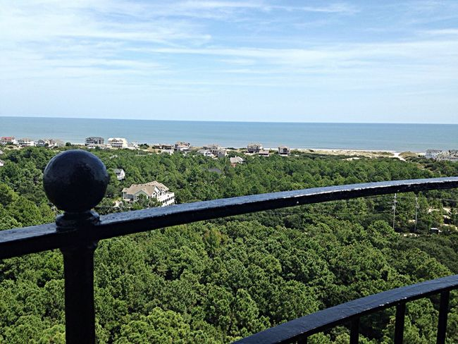Looking east from top of Currituck Beach Lighthouse. OBX14 Lighthouse From A Lighthouse
