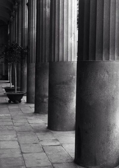 Columns Looking Through The Columns  Blackandwhite Streetphoto_bw