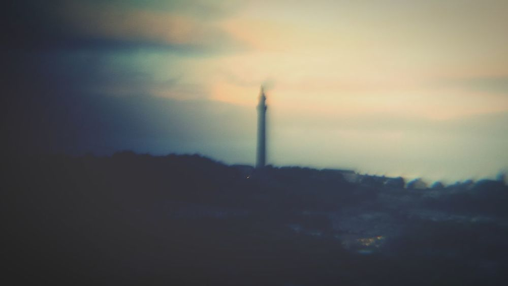 Deceptively Simple and another glitch in the telescopic lense! I was hoping to be able to show a clear photo of the view I have but this new gadget just doesn't do what it should. Still, I'm appreciating the nostaligia inducing romantic pastel hazy vibes. Tower Landscape Clouds Glitch Pastel Colors Blurry Sky POV Hazy