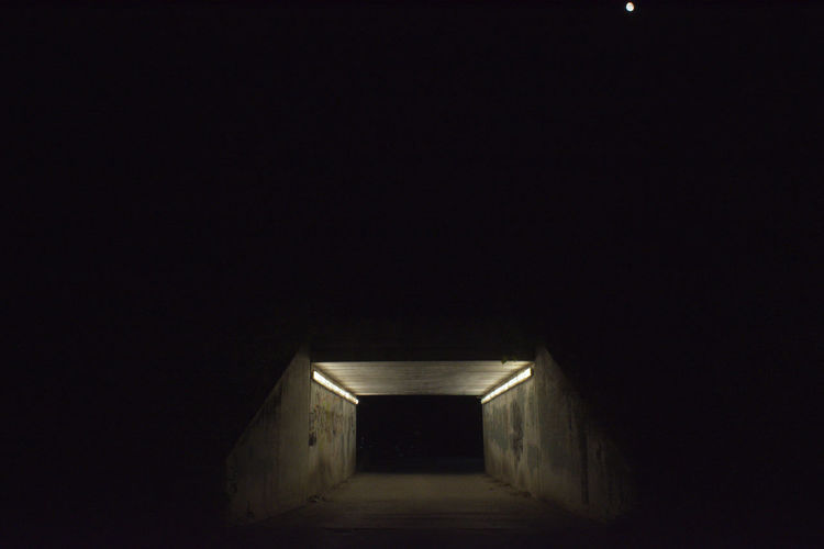 There is no light at the end of the tunnel. The tunnel is the light HUAWEI Photo Award: After Dark Absence Architecture Building Built Structure Copy Space Dark Direction Empty Entrance Light At The End Of The Tunnel Mystery Night No People Tunnel