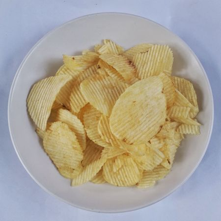 Potato Chip Food Food And Drink White Background Isolated On White Crackers Fast Food Prepared Potato Ready-to-eat Potatochips Salt Fat