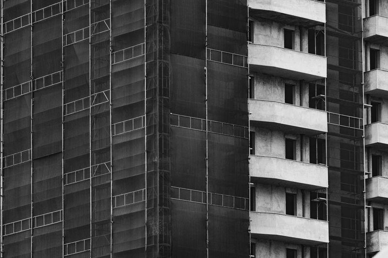 Full frame shot of incomplete building