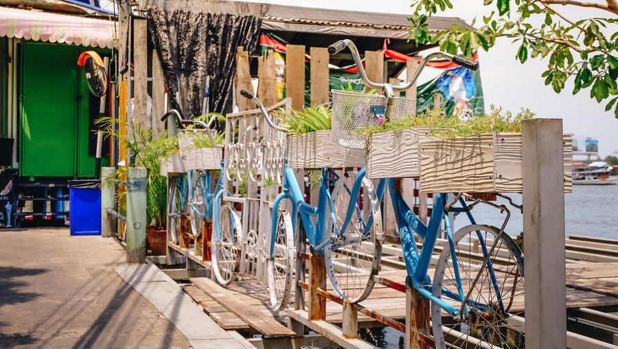 Architecture Bicycle Built Structure Day Multi Colored No People Sunlight Wood - Material