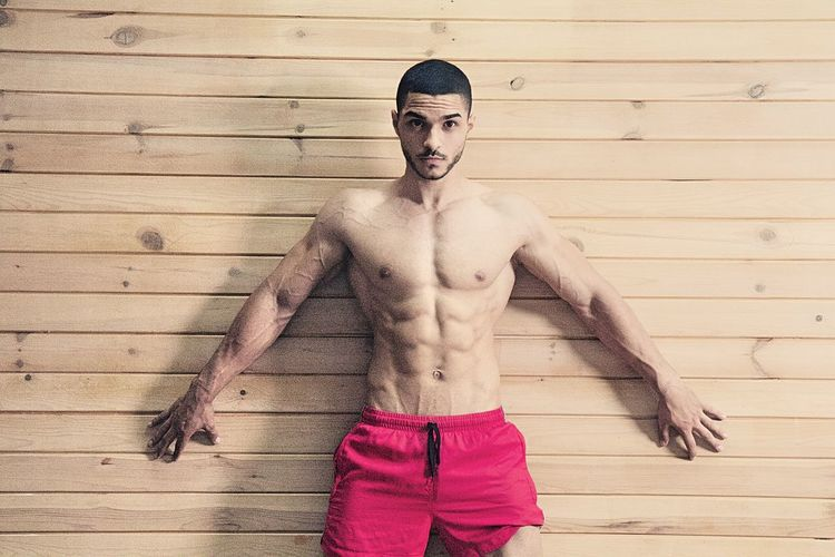 Male fitness model Bodybuilding Man Strong Coffee Boy Dumbbells Fit Fitness Fitnessmodel Fitnessmotivation Gym Model Pose Muscles Pose Sexyman Sport Strong Toplesswoman Training