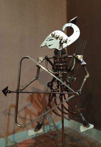 Junk metal art - Wayang No People Inonesia Art Exhibition Surabaya Junk-art Metal Sculpture INDONESIA Indoors