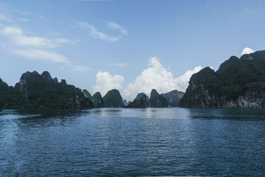 Vietnam Halong Bay Beauty In Nature Day Mountain Nature No People Outdoors Scenics Sea Sky Tranquil Scene Tranquility Tree Water Waterfront
