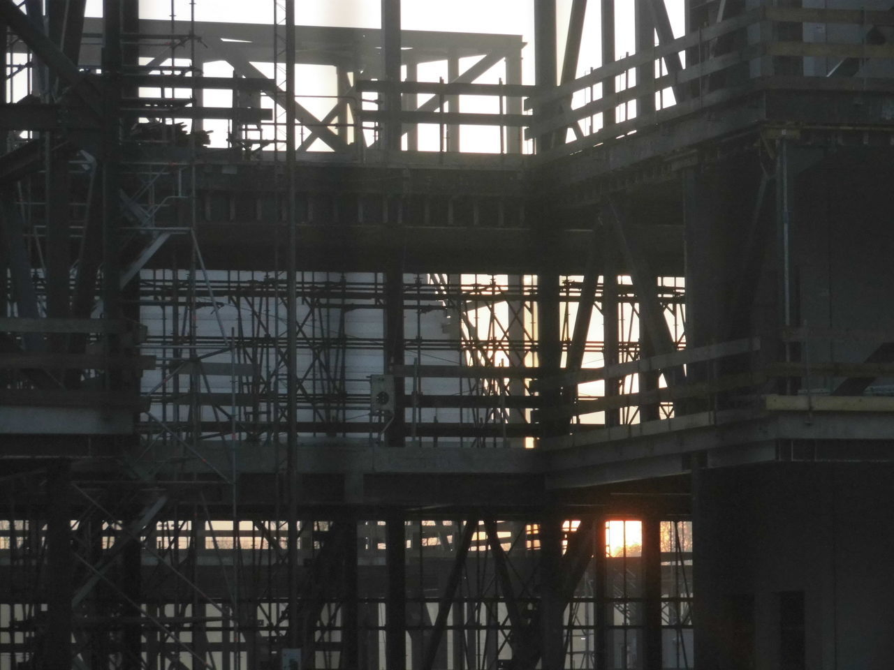 Low Angle View Of Building Against Sunrise