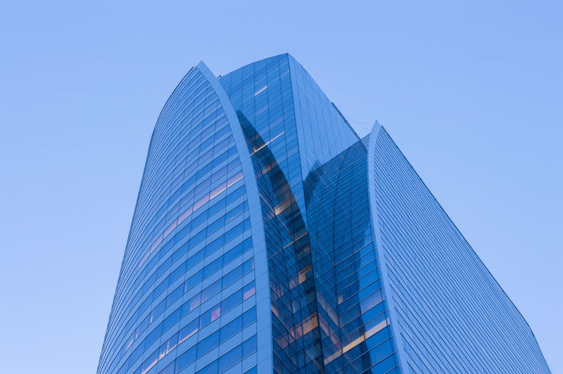 Business Building Modern Architecture Building Exterior Built Structure Office Building Exterior Sky Clear Sky Building City Blue Skyscraper Office Low Angle View Glass - Material Nature No People Reflection Tower Tall - High Day Outdoors Financial District