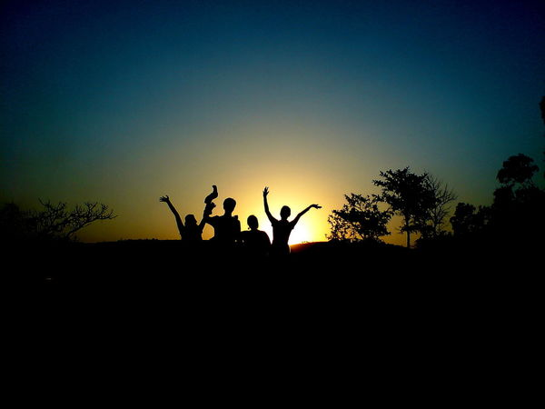 Joy Of Life ! Connected By Travel Silhouette All For One Joy Of Life Sunset Togetherness Yahoo