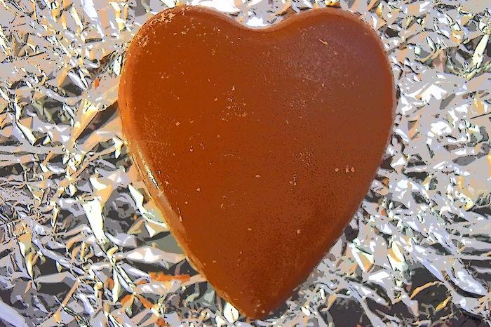 Brown Chocolate Chocolate Heart Close-up Heart Heart Shape Metallic Ready-to-eat
