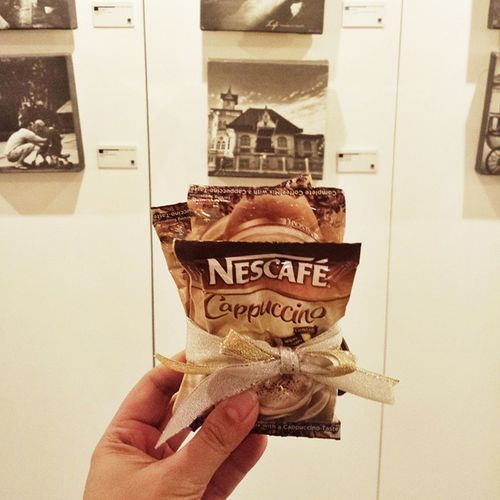 Bringing some caffaine here at Kalyeph2014 with @nescafeph cappuccino 😆😉 Indulgeinnescafecappuccino