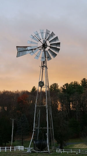 Architecture Nature No People Outdoors Rural Scene Sunset Traditional Windmill Windmill