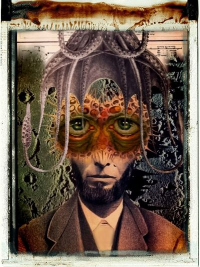 Mr. Cephalopodus Mollusk Your Biological Time Is Ticking Photographic Approximation Forgotten Dreams New Nightmares Facial Experiments Surrealism collage