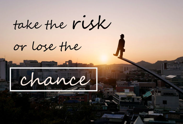 Take the risk or lose the chance. Motivational phrase about decisions of business, studies, sport, challenging, dreams. Decisions Dream Life MotivationalQuotes RISK Studies Architecture Building Exterior Business Challenging Chance City Communication Encouragement Fighting Lose Phrase Quote Silhouette Sport Sunset Volitation
