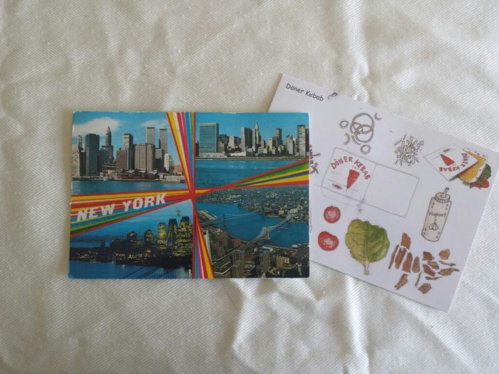 Awesome postcards from @fbz with imagery from my two favorite cities!