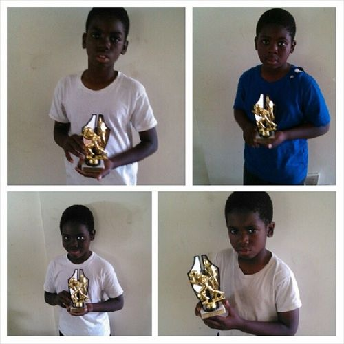 My boys got their Football trophies....congrats sons!