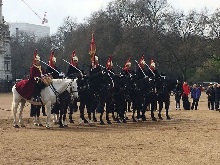 ENGLAND LONDON 23RD MARCH 2017 LONDON HORSE GUARD PARADE , WESTMINSTER ABBEY SOLDIERS ON HORSE BACK FOLLOWING THE ISIS TERRORIST ATTACK IN LONDON WHICH TOOK PLACE 22ND MARCH 2017! Terrorist Attack Isis Westminster Bridge, Devestation England Houses Of Parliament Terrorism The Day After Shock Historic Event Aftermath Westminster Bridge Breaking News EyeEmNewHere London Uniformed Soldiers Horseback Army Isisattack Horse Historical Monuments Historic Events Bravery Uniform People Horse Guards Parade London
