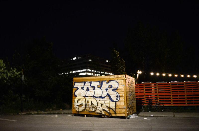 City Text Illuminated Street Art Ghetto Office Building Capital Letter Graffiti Western Script