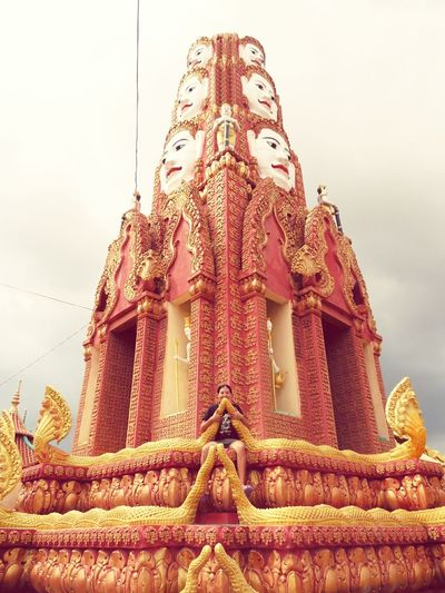 Religion Place Of Worship Architecture Spirituality Human Representation Sky Cloud - Sky Cultures Travel Destinations Building Exterior Built Structure Statue History Gold Colored Low Angle View Outdoors Gold Ancient City Religion Place Of Worship Architecture Spirituality Human Representation No People
