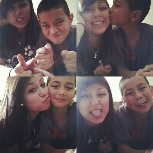 me & my liddo brother ♥