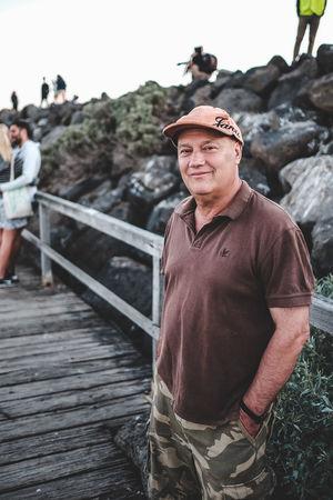 Stranger. Guy Dude Portrait Ocean Beach Melbourne Stranger Lowlight Golden Hour