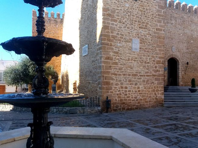 Castillo De Rota Architecture Building Exterior Built Structure City Day Fountain No People Outdoors Sky Statue Travel Destinations Tree Water