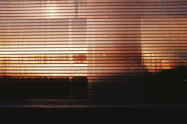 Window Blinds Shutter Indoors  No People Pattern Architecture Corrugated Iron Built Structure Day Illuminated Close-up Building Exterior Fujifilm FujiX100T
