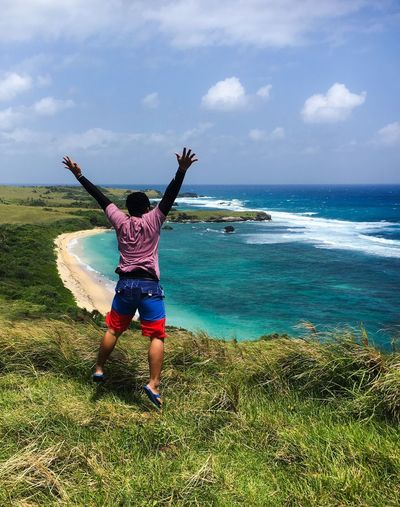 Free! Seascape Photography Beach Photography Happiness Jumpshot Free Survivor Caramoan Caramoan Summertime Caramoan Island, Camarines Sur Wind Blowing  Happiness Freedom Sea Sky Nature Outdoors Scenics Cloud - Sky Go Higher Inner Power Summer Exploratorium Focus On The Story #FREIHEITBERLIN