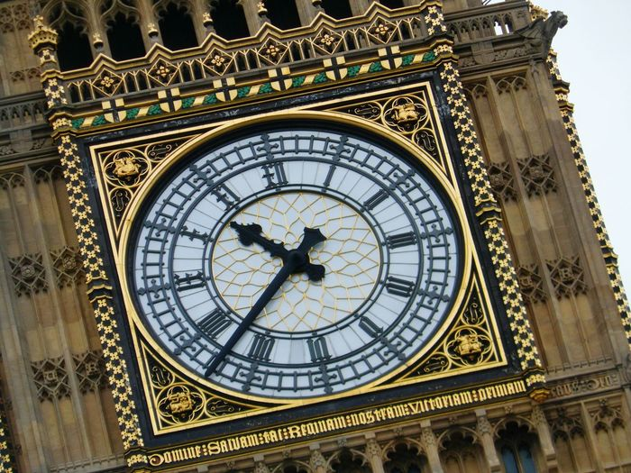 Close-Up Of Clock On Tower