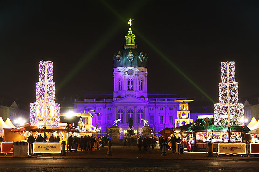 Architecture Berlin Building Exterior Built Structure Cathedral Charlottenburg Castle Charlottenburg Palace Christmasmarket Façade Famous Place History International Landmark Lighting Nel Place Of Worship Seeing The Sights Sight Sightseeing Tourism Tower Travel