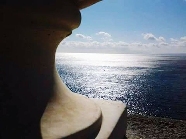 Sea View Summertime Blue Line Sicily Acicastello Landscapes With WhiteWall
