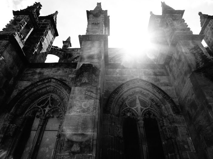 Chapel Maria Magdalena Rosslyn Chapel Scotland Spirituality Ancient Civilization Angel View Architecture Built Structure History Kirk Light And Shadow Low Angle View Mystical No People Religion Rosslin Scottish Highlands Spirituality Sunlight Travel Destinations Your Ticket To Europe Investing In Quality Of Life EyeEmNewHere Black And White Friday